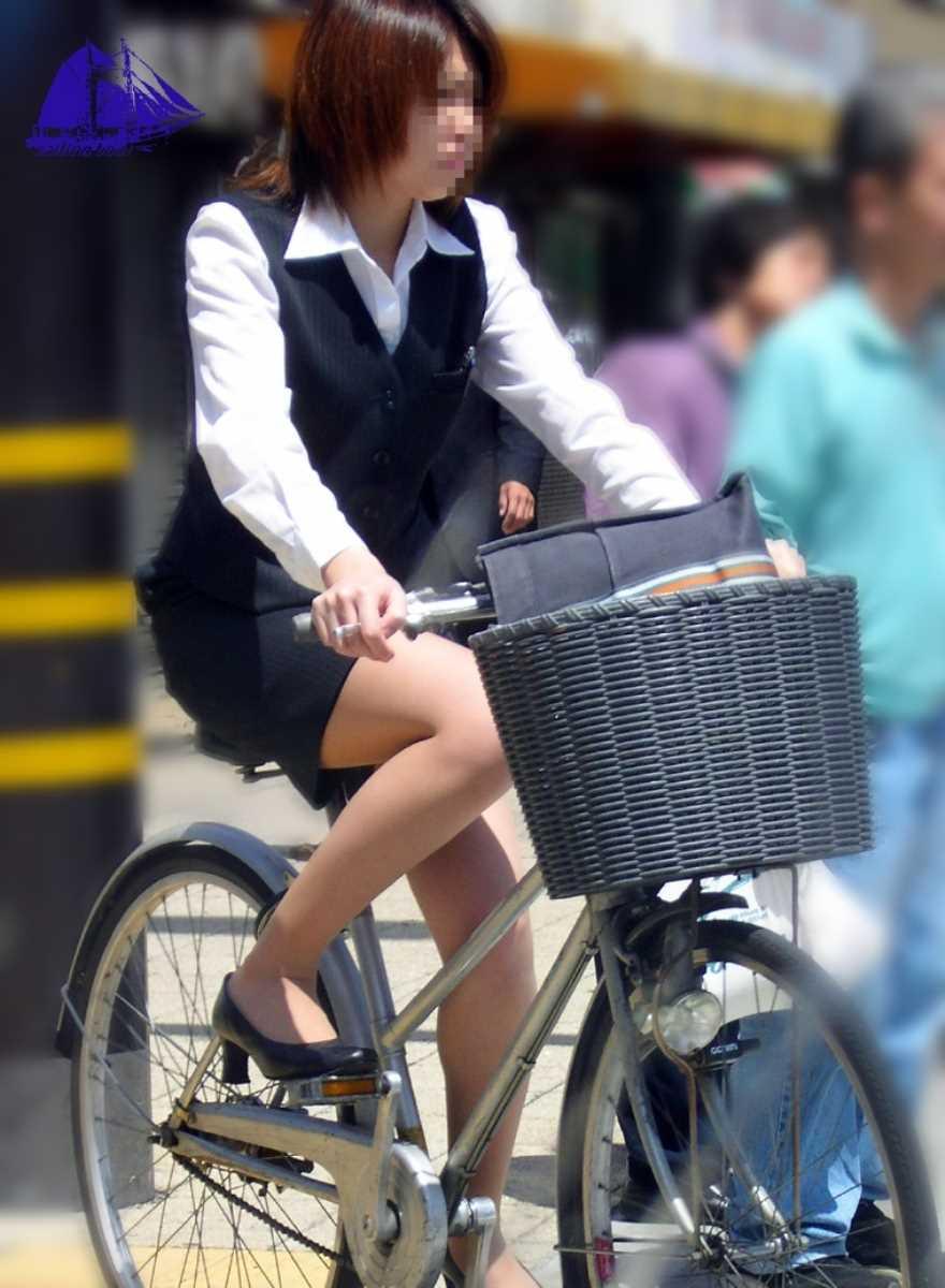 自転車OL画像 102