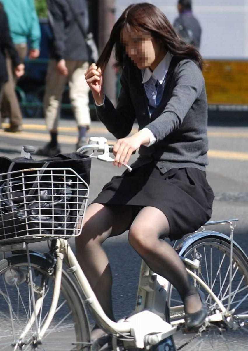 自転車OL画像 104