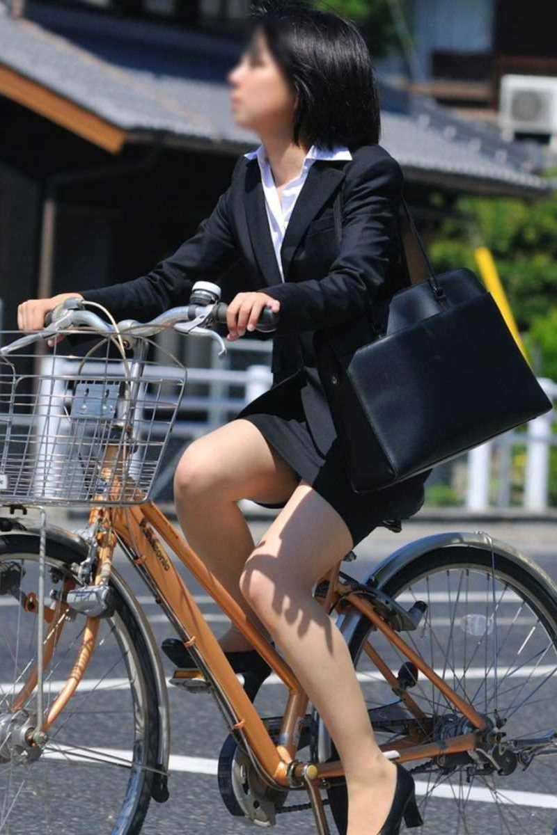 自転車OL画像 105