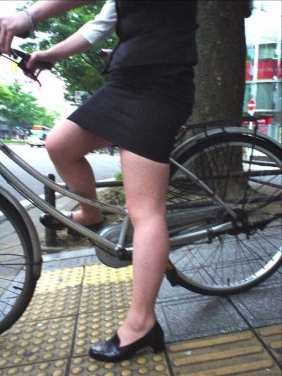 自転車OL画像 107