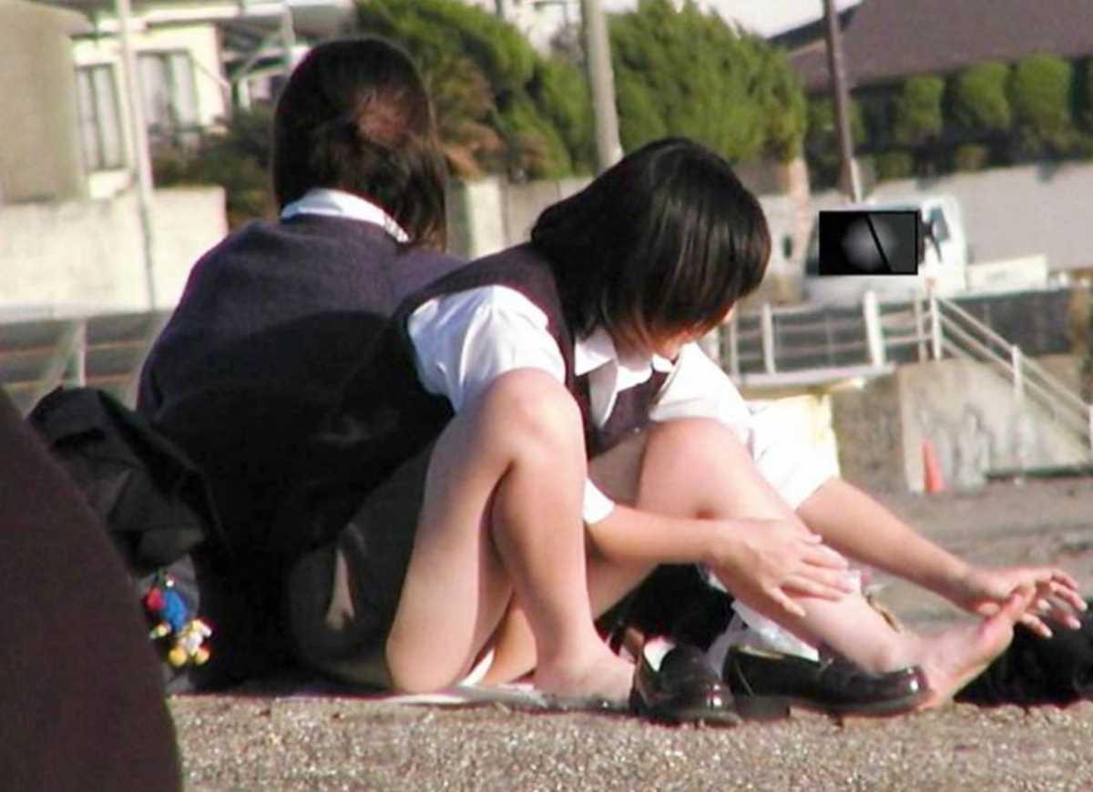 夏服JK 街撮り画像 16