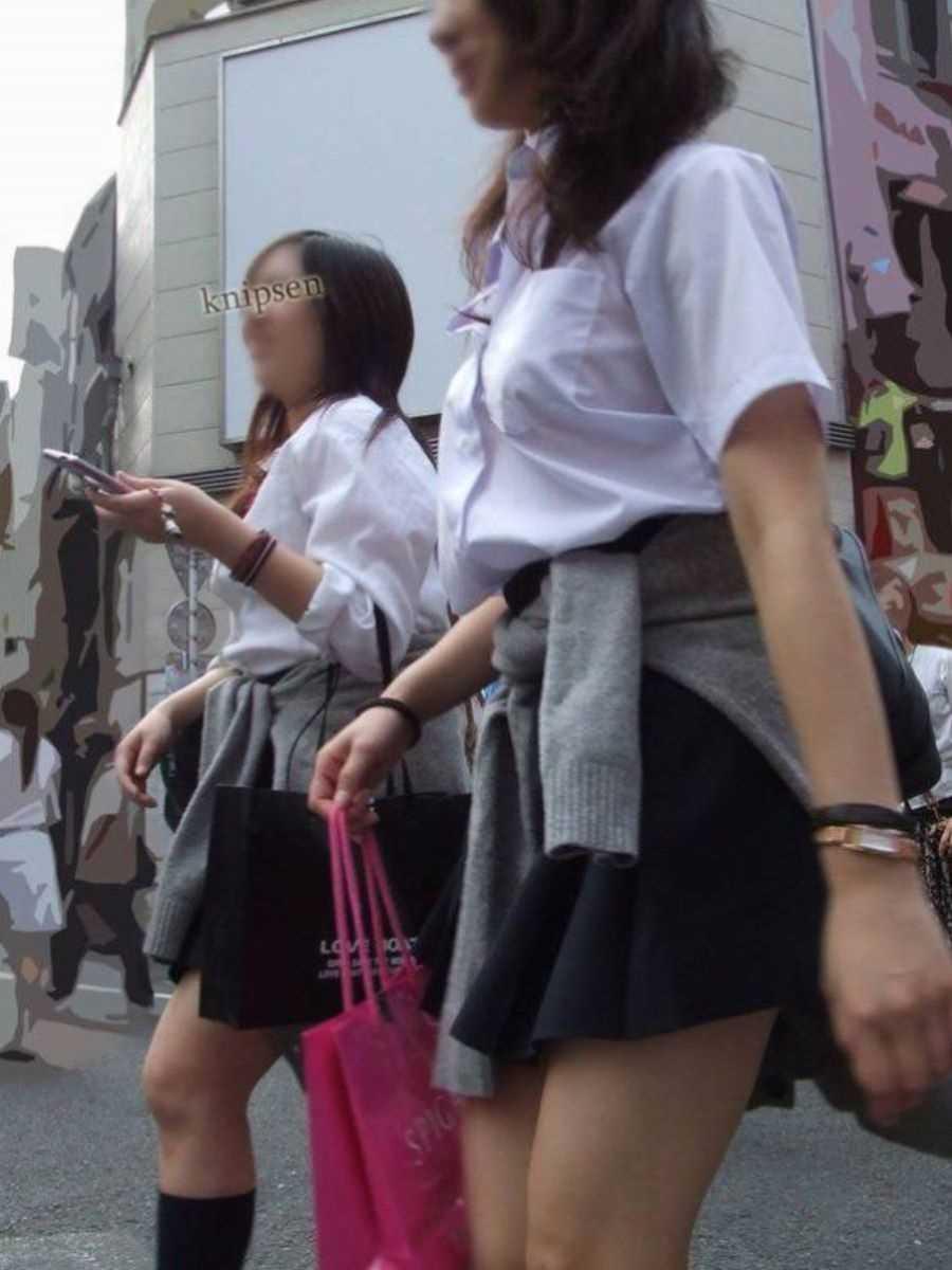 夏服JK 街撮り画像 18