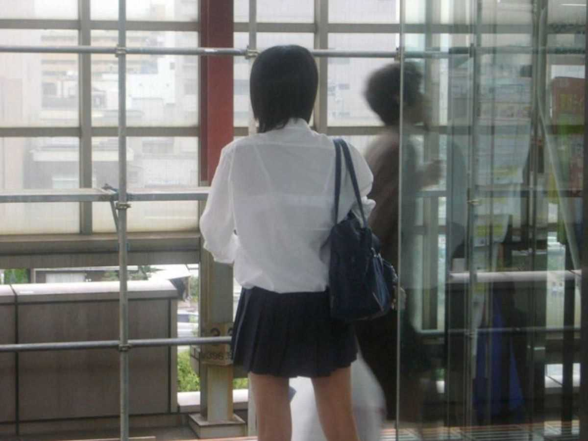 夏服JK 街撮り画像 40