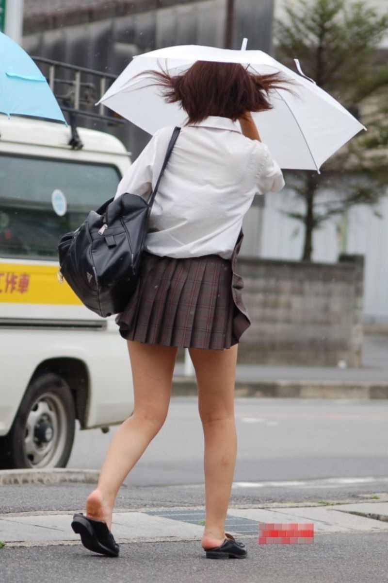 夏服JK 街撮り画像 41