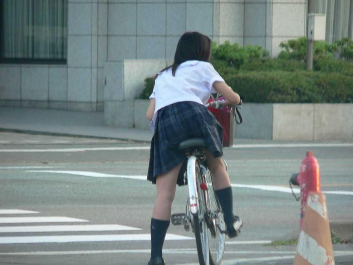 夏服JK 街撮り画像 45