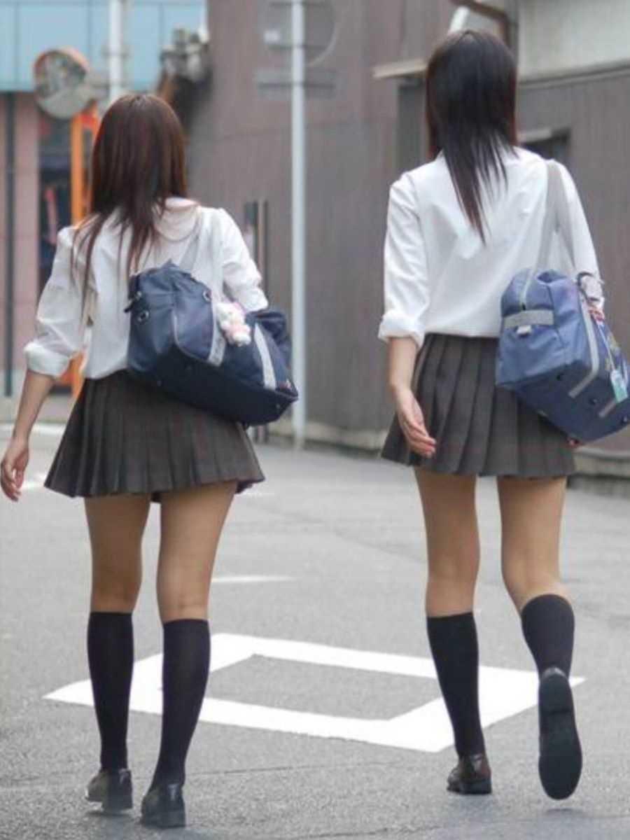 夏服JK 街撮り画像 49