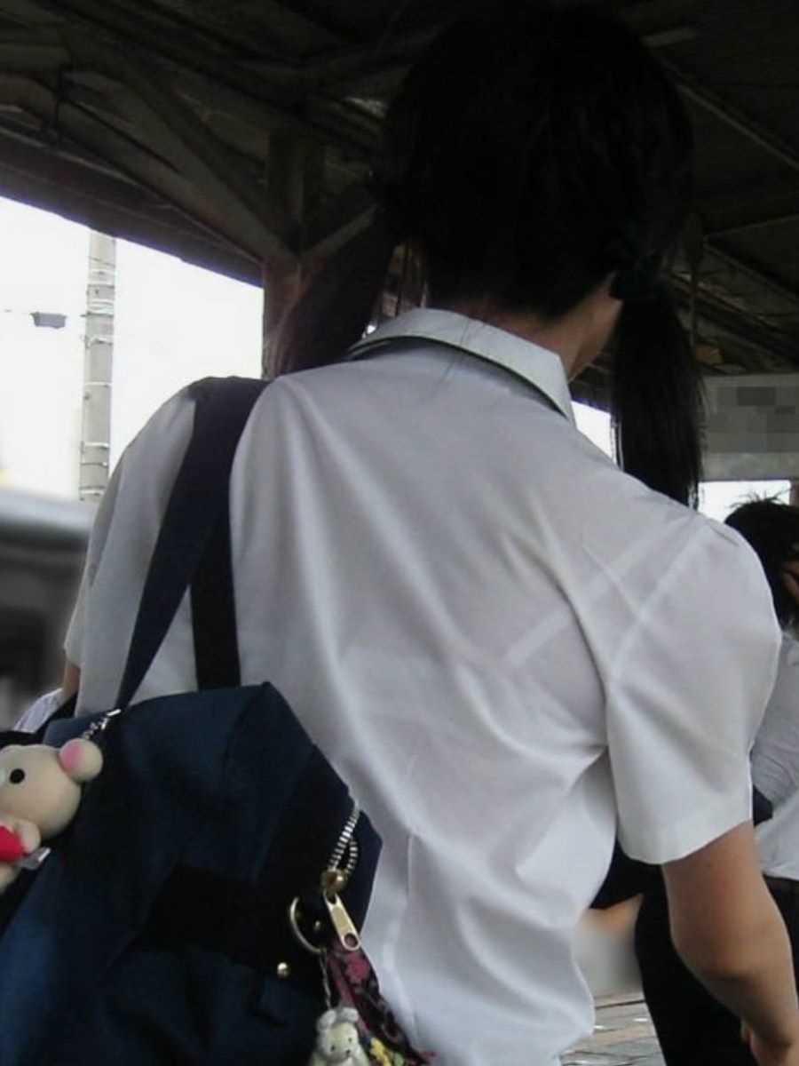 夏服JK 街撮り画像 77