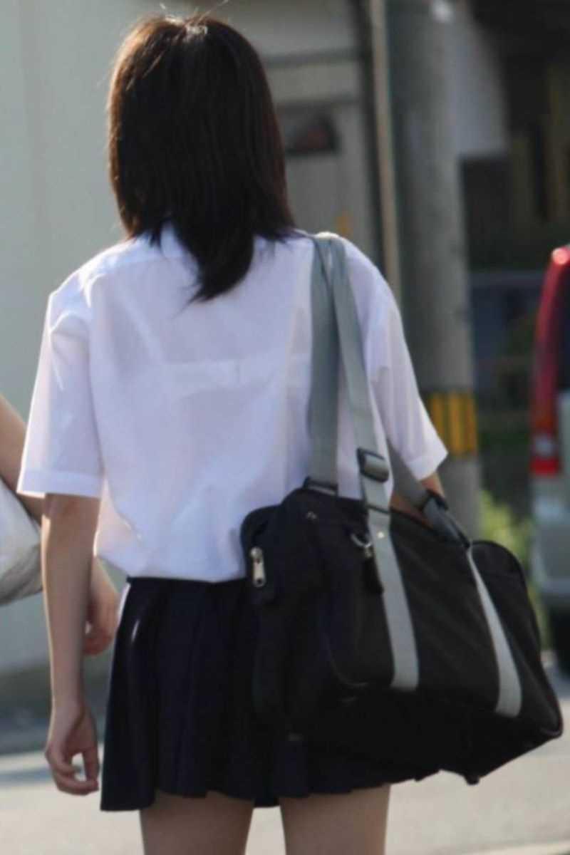 夏服JK 街撮り画像 86