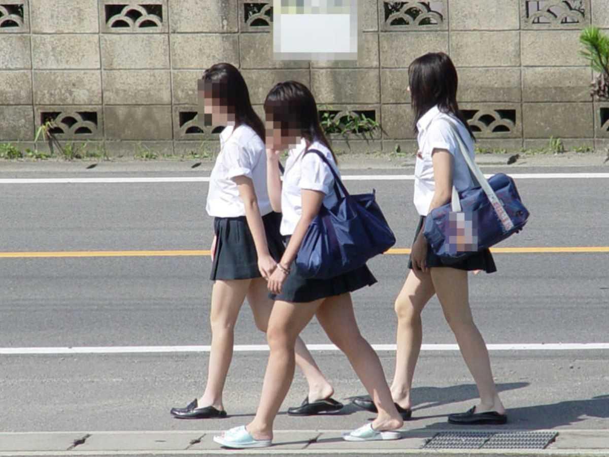 夏服JK 街撮り画像 87