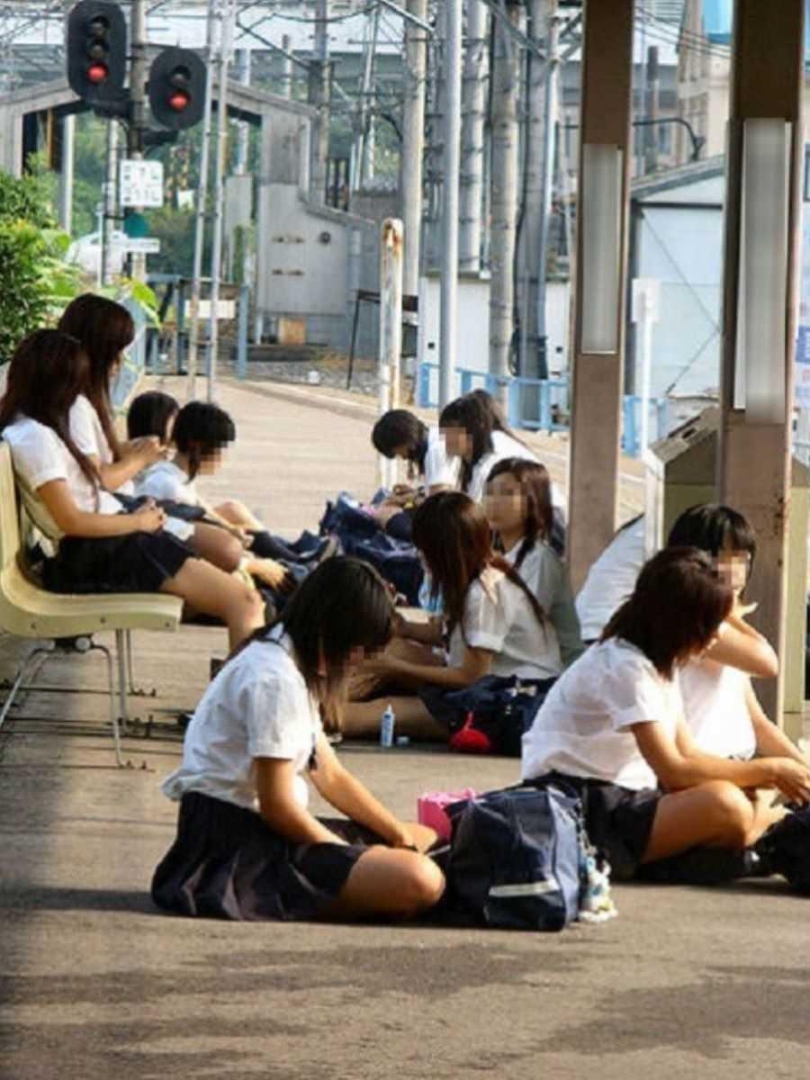 夏服JK 街撮り画像 88