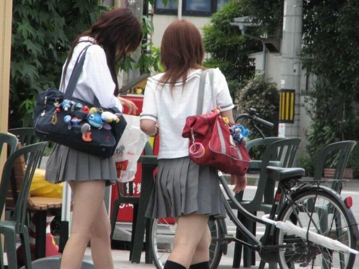 夏服JK 街撮り画像 89