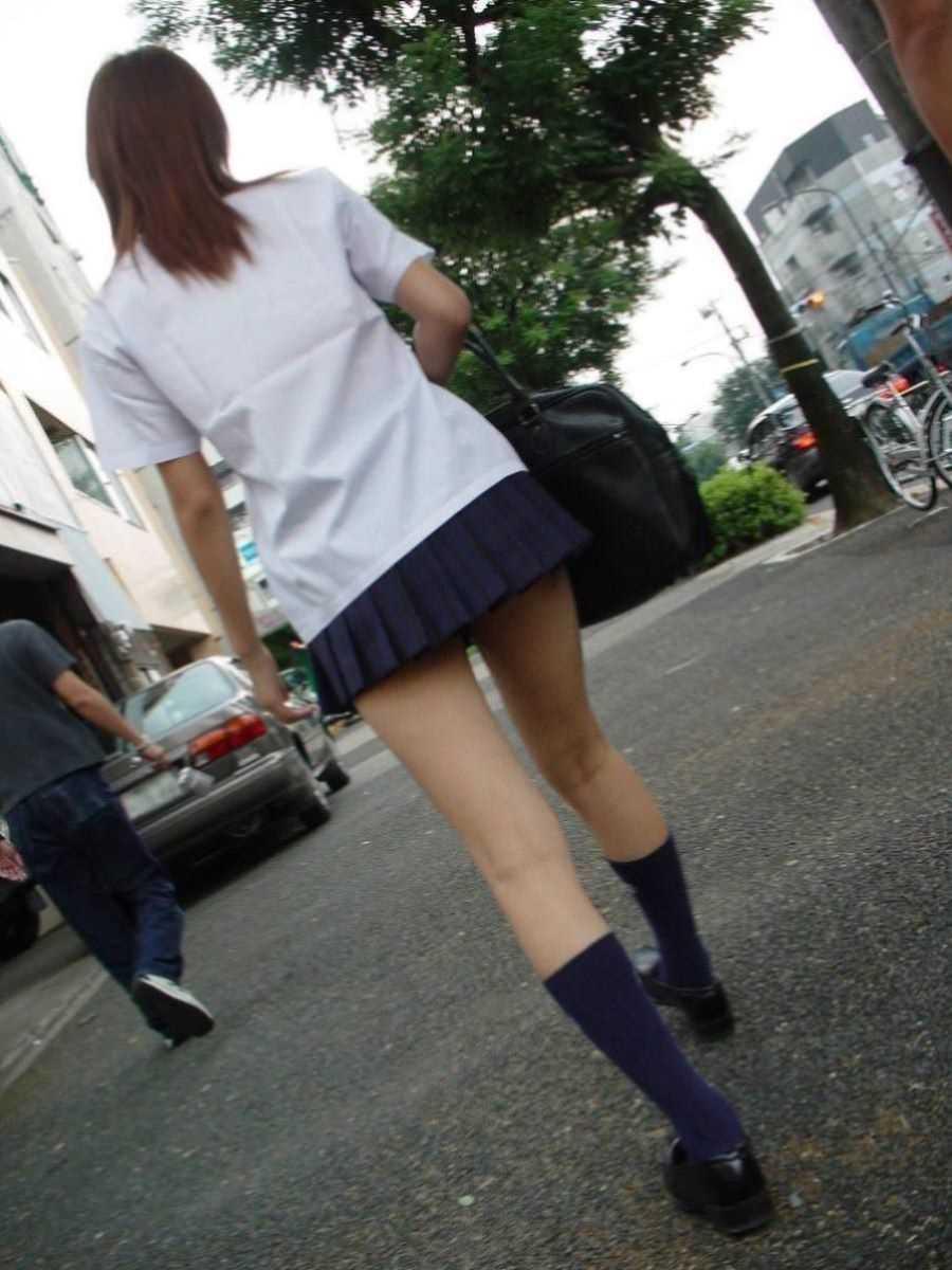 夏服JK 街撮り画像 94