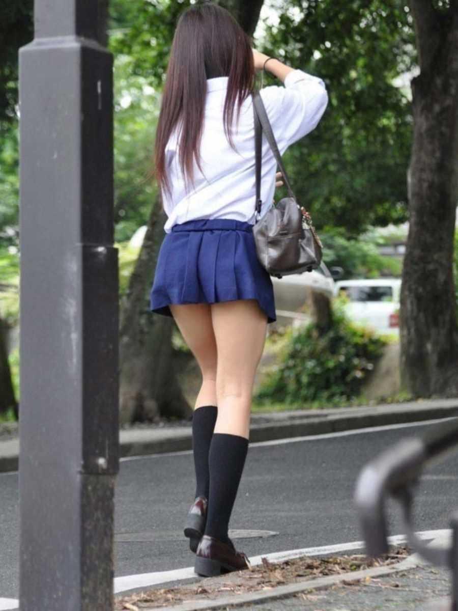 夏服JK 街撮り画像 112
