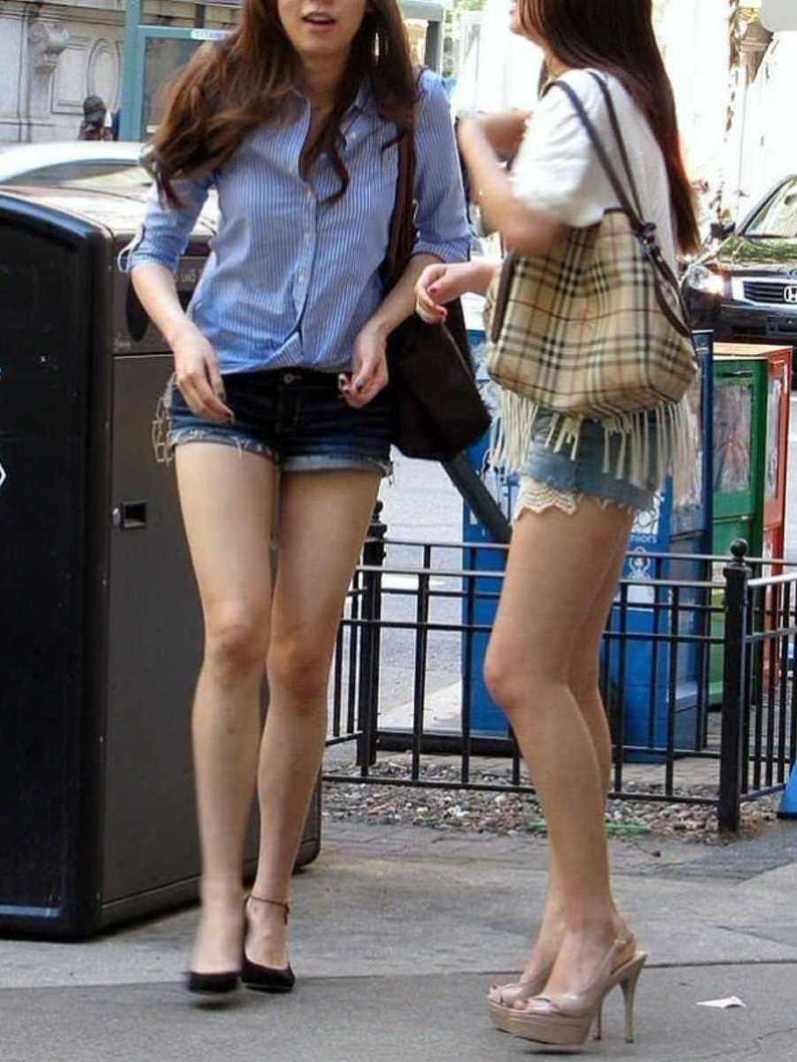 街撮り ショートパンツ画像 66