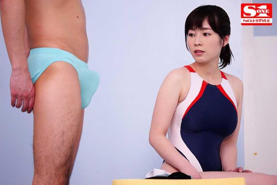 痴漢プールの競泳水着セックス画像 4