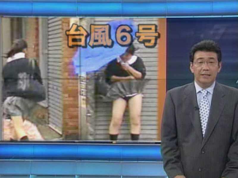 台風エロ画像!!濡れ透け下着にパンチラなどの120枚