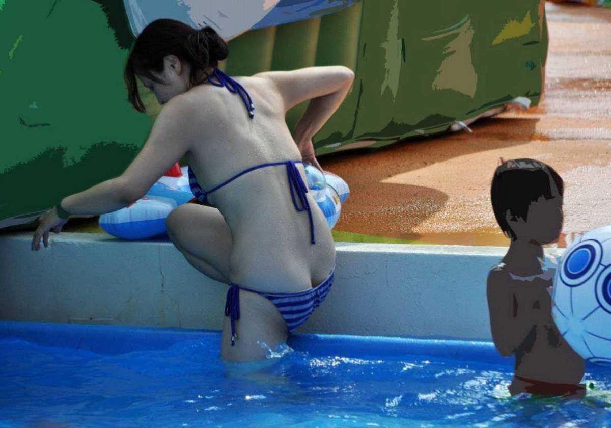 人妻の水着画像 43