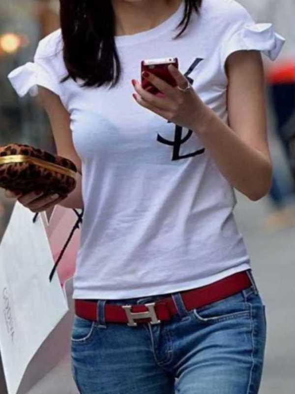 Tシャツ 透けブラ画像 47