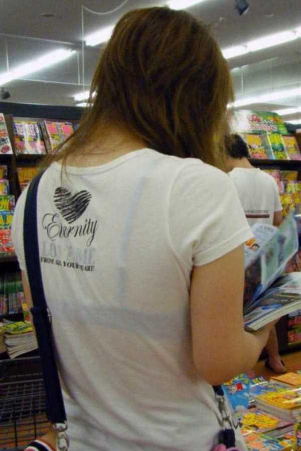 Tシャツ 透けブラ画像 107