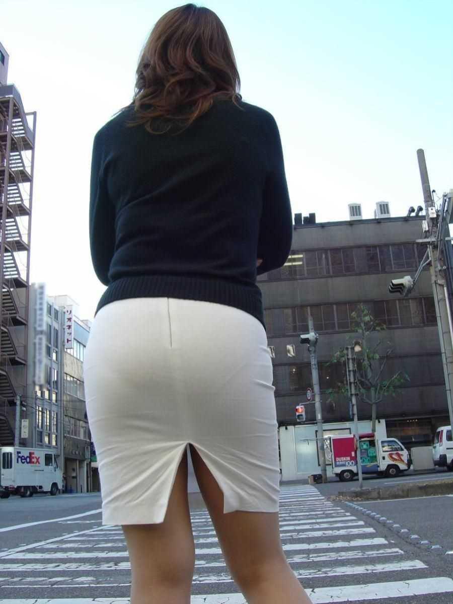 街撮り 透けパン画像 45