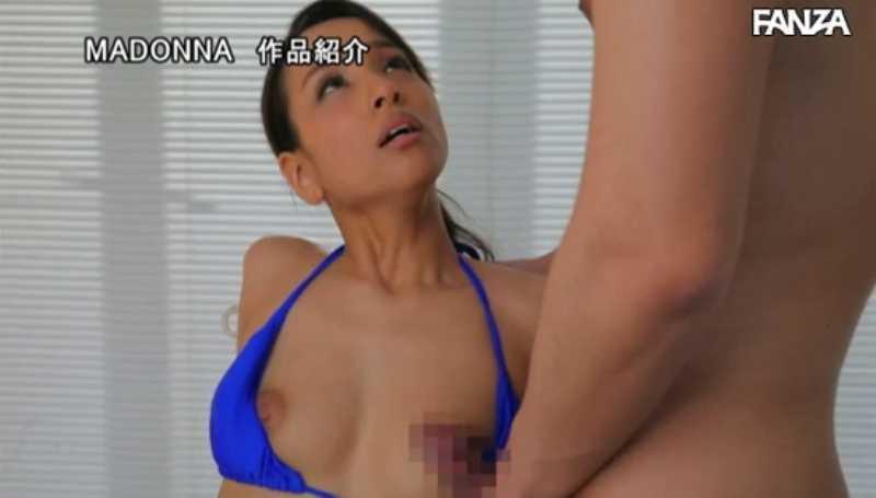 人妻水着モデル 新山リオ セックス画像 46