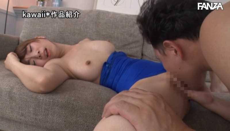 スレンダー巨乳 心乃秋奈 セックス画像 43