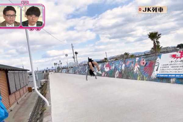 NHK バク転 JK パンツ丸見え 放送事故 エロ画像 2