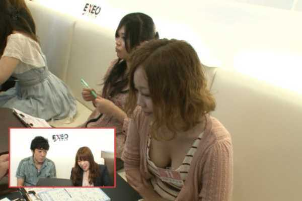 テレビ 素人 胸チラ エロ画像 2