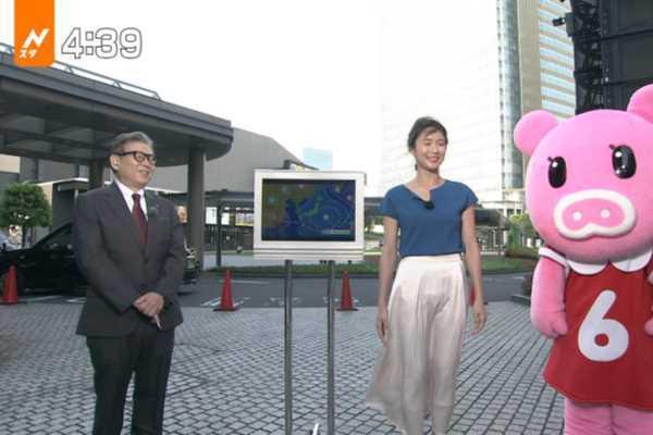 小林由未子アナ 下半身 スケスケ エロ画像 2