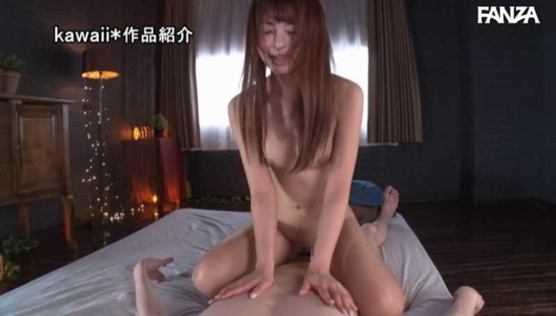 精液垂れ流しの騎乗位セックス画像 15