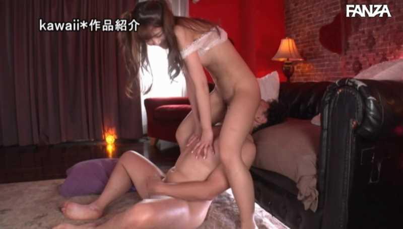 精液垂れ流しの騎乗位セックス画像 34