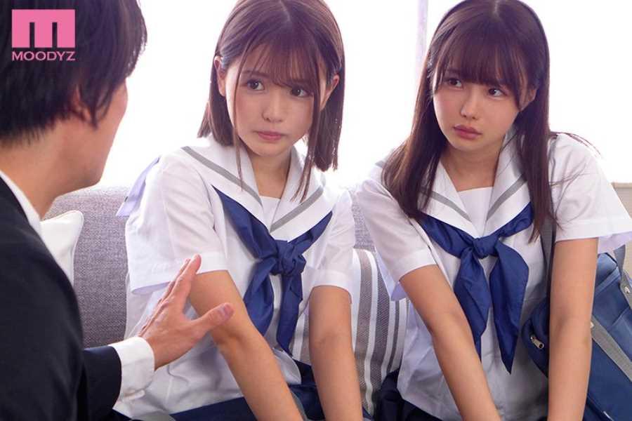 女子生徒2人の3Pセックス画像 10