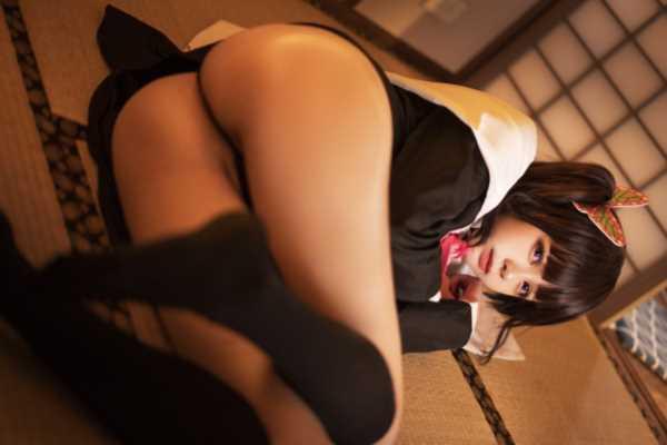 『鬼滅の刃』栗花落カナヲにエロ似な中国人レイヤーのエロ画像 1