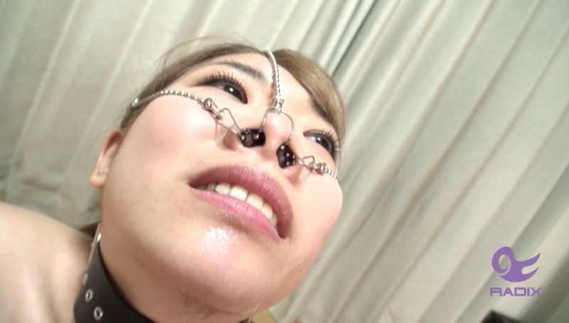 鼻フックの羞恥調教エロ画像 33