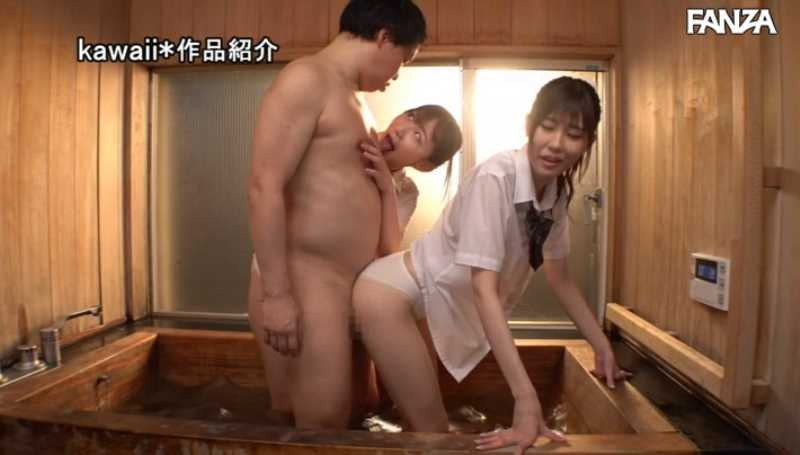 制服女子3Pセックス画像 41