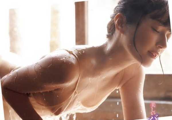 新藤まなみヌード入浴の乳首エロ画像 1