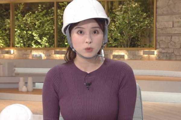 角谷暁子アナのニットおっぱいエロ画像 2