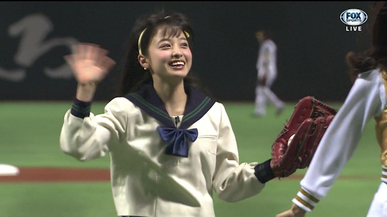 橋本環奈 始球式画像 249