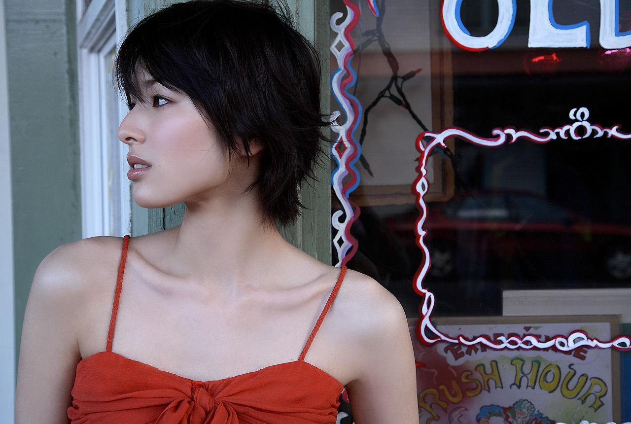 吉瀬美智子の横顔