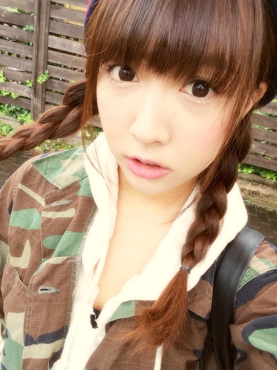 三上悠亜としてAVデビューしたSKE48鬼頭桃菜の自撮り画像